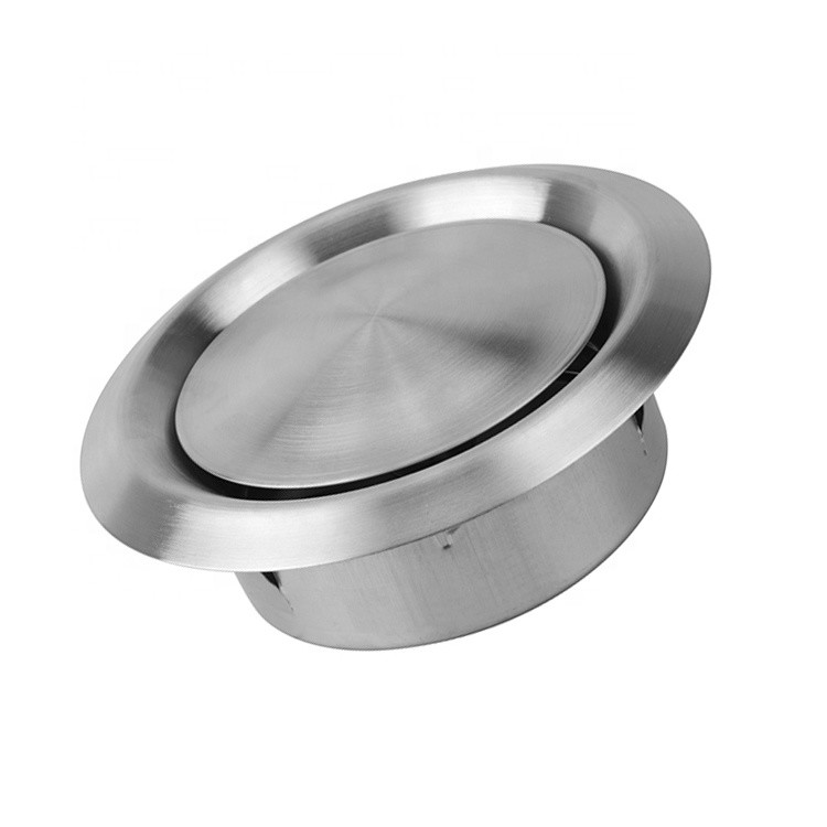 Silver HVAC Ventilation Durable Stainless Steel 304 Material Round Shape
